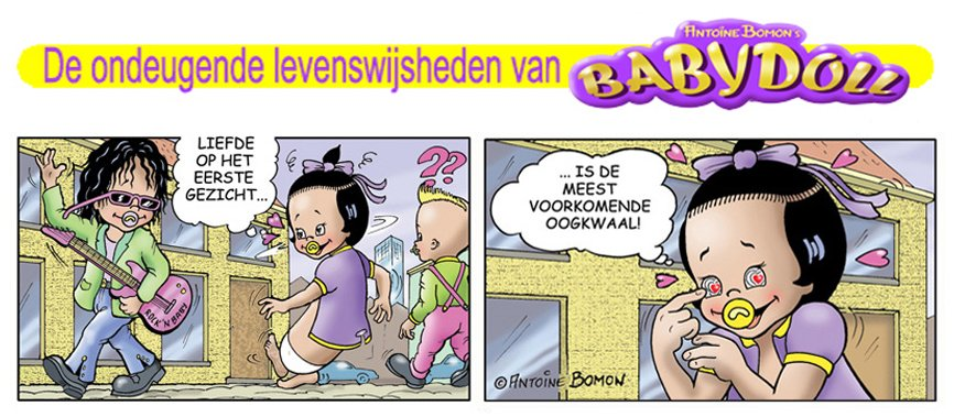Babydoll cartoon - Over de liefde - Copyright by Antoine Bomon