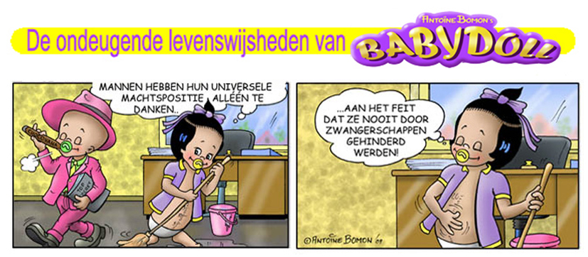 Babydoll gagstrip - Over macht - Copyright by Antoine Bomon