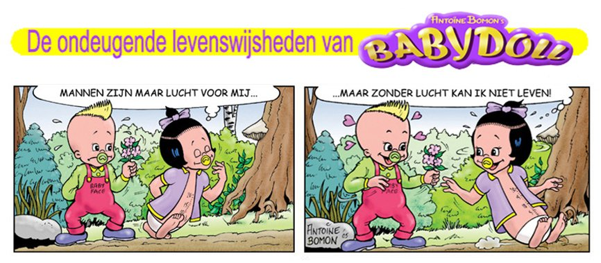 Babydoll cartoon - Over mannen - Copyricht by Antoine Bomon
