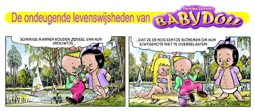 Babydoll cartoon - Over de ontrouw - Copyright by Antoine Bomon