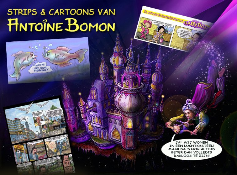 Cartoons en strips van Antoine Bomon - 01