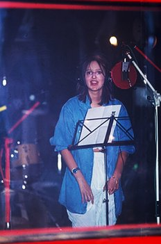 Isabelle A tijdens opname Babydoll single-cd - 1993