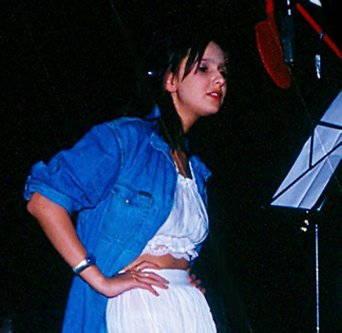 Isabelle A in Top Studio tijdens opname Babydoll single - 1993